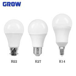 A60 9W B22 Plastik-LED Birnen-energiesparender LampeDob mit Cer RoHS