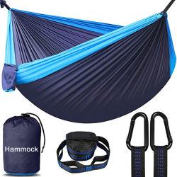 سرير واحد مع سرير واحد في سرير واحد و شخص مزدوج - حقيبة ظهر السفر ساعة Gear Hammock المتنقلة الخارجية