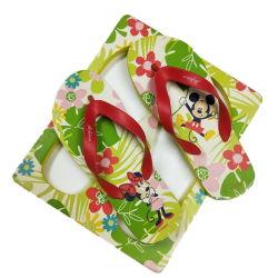 Impresos personalizados chanclas de goma suave hecho personalizado zapatillas