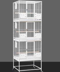 Utdoor Iron Bird House en grote Iron Parrot Bird Cage Witte metalen draad Groot draagbaar grote makkelijk bewegende vogelkooi met Wielen