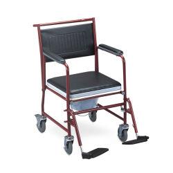무능한 장비 헬스케어 접히는 강철 프레임 Commode 화장실 의자