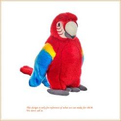 열대 앵무새 견면 벨벳 장난감 박제 동물 연약한 장난감