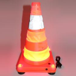 도로 안전을 위한 Super Bitight LED 조명 자동 감광형 교통 콘