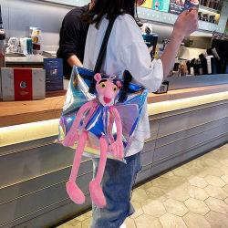 Corea mayorista personalidad transparente Bolso Bolso de jalea de muñeco de peluche