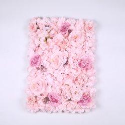 꽃 벽 장식 3D 핑크 꽃 벽 패널 실크 장미 꽃 결혼식 배경, 신부 샤워, 아기 소녀 방, 보육원, 인공 장미 꽃 벽 장식