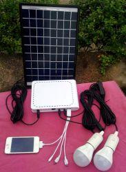 Mini kit solari portatili di vendita caldi di CC del sistema di illuminazione di energia solare 20W per uso domestico