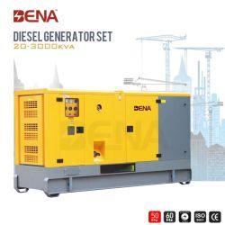 25kVA-1500kVA Ce/ISO에 의하여 삼상 Cummins 침묵하는 전기 디젤 엔진 발전기는 승인했다