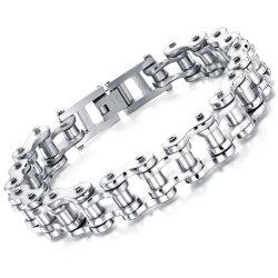 Nova Moda pulseiras simples Ouro Vintage Cadeia feitos de aço inoxidável homens bracelete de couro