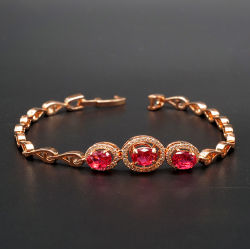 Fashion Rosegold Bracelete Folheado Bangle pedras coloridas Rodada Crystal bracelete de diamantes