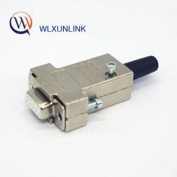 Металлический корпус 9Контакт цинкового сплава крышку Припаяйте провод разъем D-SUB