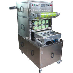 Pneumatische Plastic Film Vloeibare Yoghurt Sap Melk Food Box/Tray /Bowl/Cup/Container Packing Sealer Sealing Machine