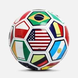Drapeau national de promotion de gros ballon de soccer en PVC
