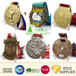 hecho personalizado de Navidad baratos Santa religiosa Gimnasia Fútbol Béisbol Baloncesto Taekwondo Karate Deporte acabado trofeos medallas de metal sin mínimo de pedido