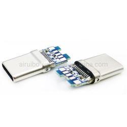 24 de Tweezijdige Voorwaartse Achterwaartse Stop type-C USB 3.1 Vrouwelijke Vrouwelijke Schakelaar 1 van spelden van het Type USB C van Contactdoos type-C van de Schakelaar van de Stop Koper