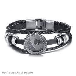 ファッション小物の宝石類型の火かき棒の人の革ブレスレットの方法宝石類