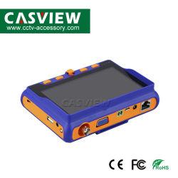 8MP van Ahd/Tvi/Cvi/CVBS van de Camera van het Meetapparaat (4 IN 1) van de Steun HDMI &VGA 5 LCD van het Scherm de Monitor van Camer van het Meetapparaat van kabeltelevisie van de Output van de Test DC12V van de Kabel van de 800*480- Resolutie UTP 1A