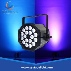 LED de iluminação de palco 18X10W RGBW 4NO1 PAR pode iluminação DJ