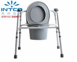 Chaise de commode standard en acier pour produit médical pour soins à domicile