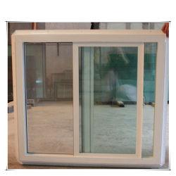 Colores personalizados de vidrio de ventana deslizante de aluminio ahuecado UPVC ventana deslizante
