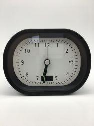 La decoración del hogar regalo de promoción Promoción nuevo diseño en negro Controlado por Radio Reloj Despertador con retroiluminación LED