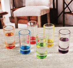 Color Spray en la copa de vino de cócteles de vodka de la copa de cristal de la copa de cristal de captura de los espíritus Mug taza vaso de vino