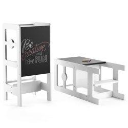 Tabouret De Cuisine & Chalkboard Desk pour les tout-petits - apprentissage Helper de Style de lapin