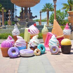 La taille de la vie des bonbons Props Sculpture en fibre de verre pour le Shopping Mall marché