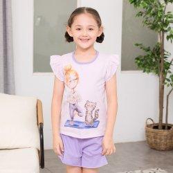 t-셔츠가 재미있은 디자인 소녀의 의류 세트에 의하여 인쇄된 작풍에 의하여 농담을 한다
