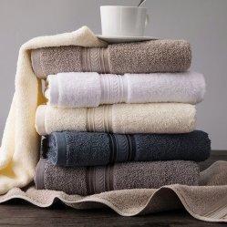 100% coton Hotel Face/main/salle de bain/Piscine/étage serviette avec broderie/Logo