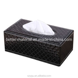 Lederen Tissue Box Custom Logo Advertising Restaurant Hotel Leatherr Box Voor thuis- en hotelgebruik
