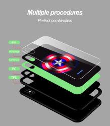 عادة يشكّل مضيئة [موبيل فون] يتوهّج يستعصي حاسوب هاتف حالة لأنّ [إيفون] [إكسس] [إكسر] [إكسس] [مإكس] مع يليّن زجاجيّة تغطية ليّنة [تبو] حافة