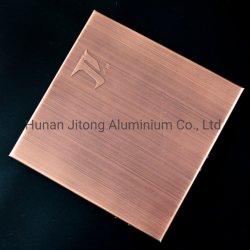 Fachada Exterior//parede externa de materiais de revestimento duplo de alumínio Painéis curvado único de alumínio Painéis sólidos perfuradas de alumínio 3D 3D os painéis de parede