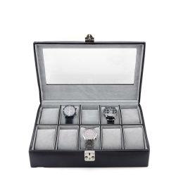 カスタム PU 革長方形携帯用腕時計の貯蔵の箱の宝石類のギフト ディスプレイボックスケースを見る