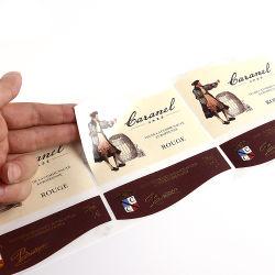 Les boîtes de téléphone mobile d'autocollants, étiquettes papier pour les cosmétiques Stikcer bouteille