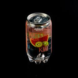 キーウィ+メロンの味のソーダ光っている泡水