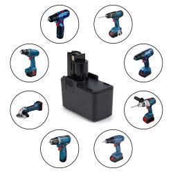 OEM NiMH 9,6V 2500mAh Batería de herramientas eléctricas Bosch para Bat001 2607335035 2607335037