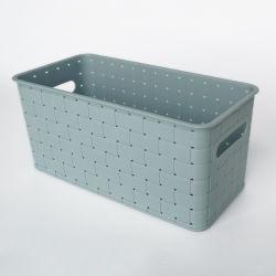 Plástico moderno cuarto de baño cesta de almacenamiento con empuñadura de la canasta de almacenamiento de PP