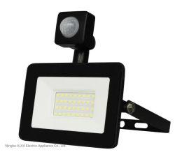 Для использования вне помещений IP65 водонепроницаемый проекта отражатель тонкий 20W светодиодный светильник PIR