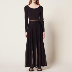 La couleur noire Ladies' monter Slim sexy fashion robe tricotés