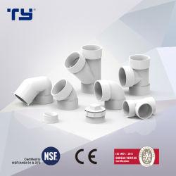 PVC ASTM D2665 Dre Tripple Raccords de tuyaux en plastique fabriqués en Chine (TEE, couplage, coude, 45 deg coude)