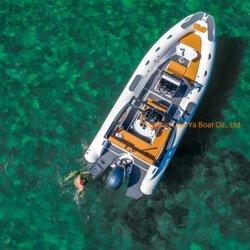 Liya 22ft Rib bateau gonflable à coque en fibre de verre Fashion Rib pour la vente de bateaux