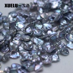 13-15mm AAA Qualitätsgrosse graue Farbe natürliche Keshi barocke kultivierte Frischwasserperlen en gros (XL190010)