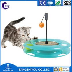 Três níveis de Pet Cat Faixas de Torre de brinquedos do parque de diversões de Inteligência de gato disco Disco pagar Triplo Cat Brinquedos Placa de Diversões de Formação de Esferas