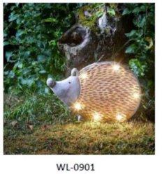 Indicatore luminoso solare del giardino della resina dell'istrice esterno LED dell'ornamento