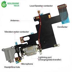 cabo flexível porta de carregamento com Microfone Microfone para iPhone 5 5s 6 6s 7 8 Plus