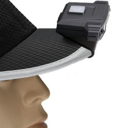 Koplamp van de Klem van de Schakelaar van de LEIDENE Sensor van de Hoed de Lichte MiniGLB Lichte Navulbare