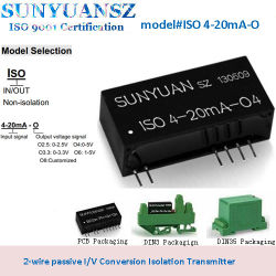 La norma ISO de 4-20mA-o la señal analógica pasivo corriente a voltaje convertidor aislados