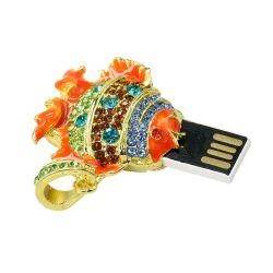 Рекламные украшения рыбных форму 2.0 USB флэш-памяти диска пера