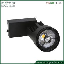 Garantía de Comercio de la caja de aluminio 2 3 4 hilos foco LED 40W de iluminación de pista