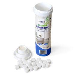 Draagbare desinfectietabletten desinfectiemiddel voor chloordioxide dat wordt gebruikt voor het doden van virussen, bacteriën, spores en luchtverzenders, het oppervlak van objecten, water, enzovoort